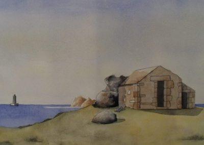 Maison des douaniers de l'île d'Iock, à Landunvez